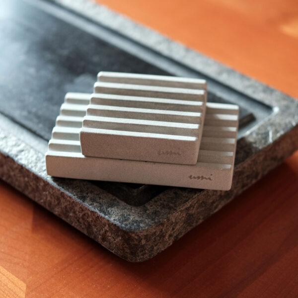 WAVES Stone Soap Dish Set by UMI